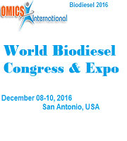 World Biodiesel Congress and Expo on 2016 December 8-10 at San Antonio, USA