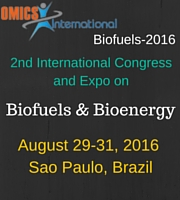 2nd International Congress and Expo on Biofuels & Bioenergy to be held on 2016 August 29-31 at Sao Paulo, Brazil