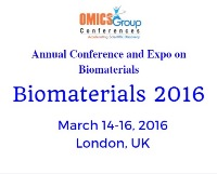 Biomaterials 2016 - Annual Conference & Expo on Biomaterials to be held from 2016 March 14-16, at London, UK