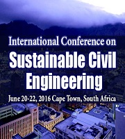 International Conference on Sustainable Civil Engineering, June 20- 22 2016, Cape Town, South Africa