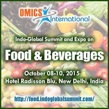 Food India 2015-Indo Global Summit and Expo on Food and Beverages, October 8-10 2015, New Delhi India